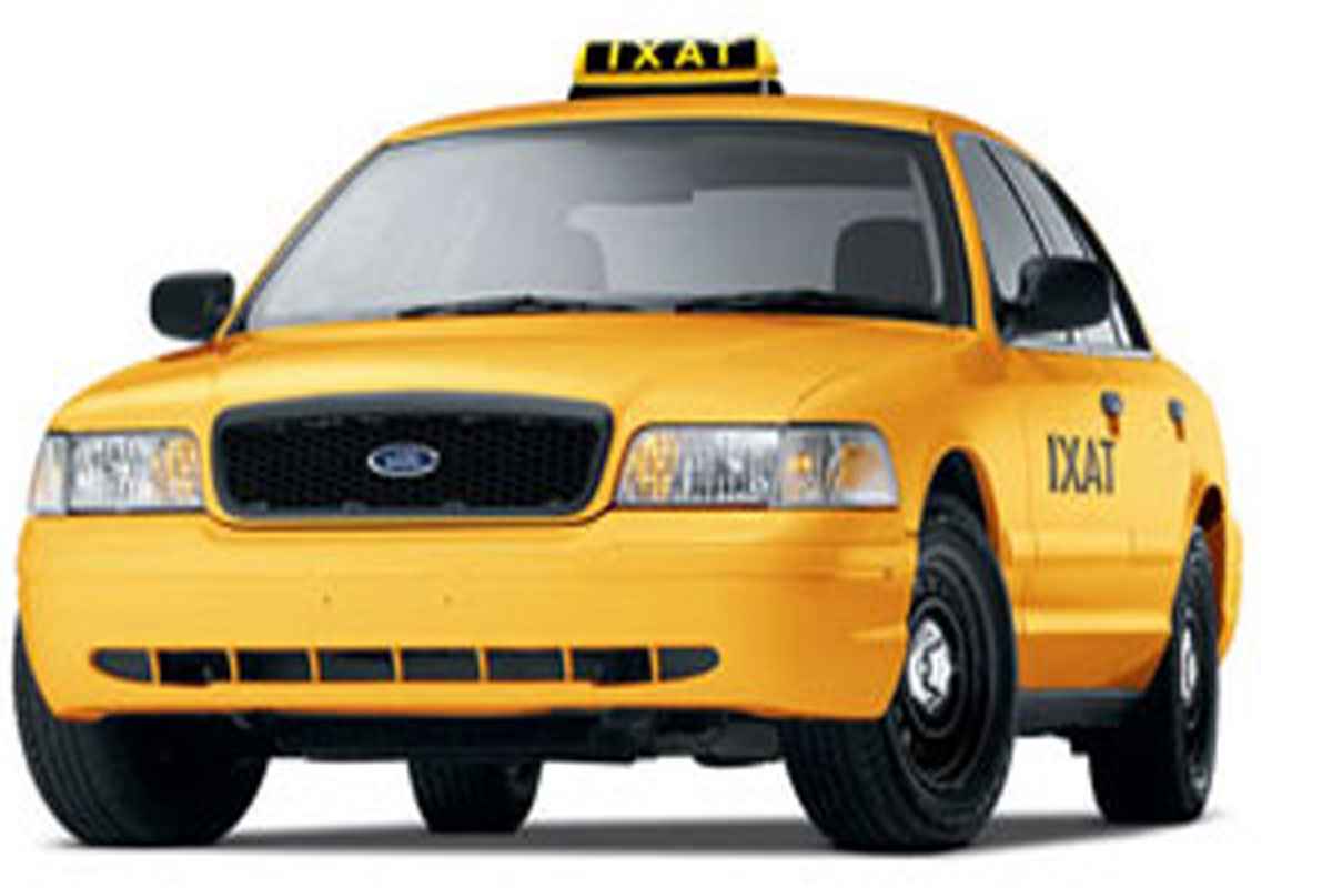 Taxi Driver Jobs on yellow car vector